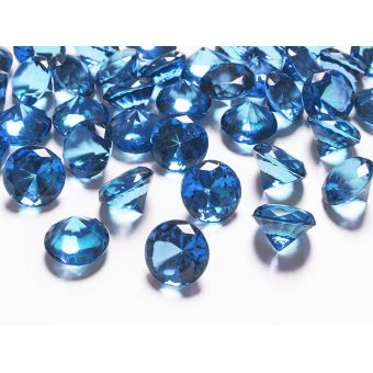 Diamanty 20mm tmavo modré