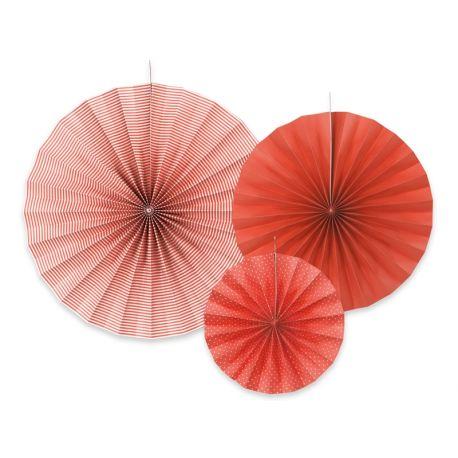 Červené dekoračné rozety