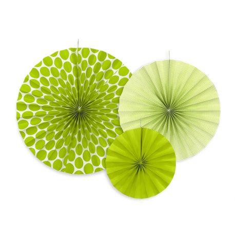 Zelené dekoračné rozety