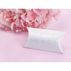 Biela krabička na darčeky pre hostí - ornament