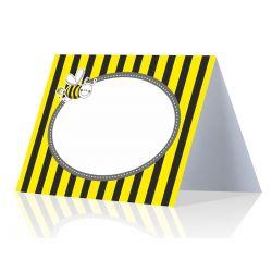 Žltá menovka na stôl - včielka