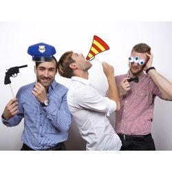 Rekvizita na fotenie - Polícia na paličke