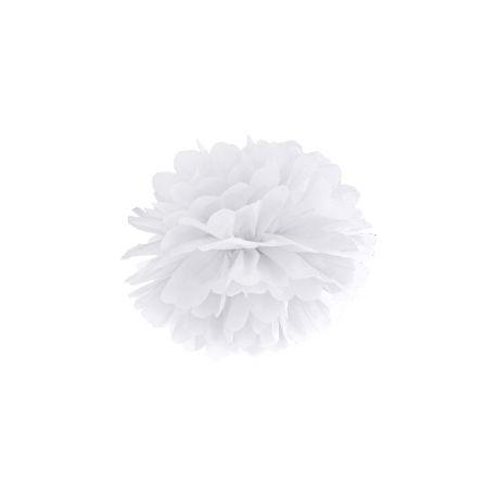 Biely Pom pom - 25cm