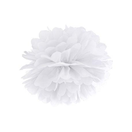 Biely Pom pom - 35cm