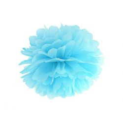 Pom pom svetlo modrý - 35cm