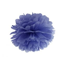 Pom pom tmavo modrý - 35cm
