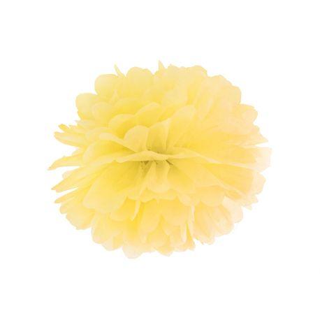 Pom pom 35cm - žltá farba