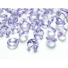 Diamanty 20mm fialové