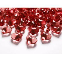 Červené kryštálové srdcia