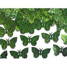 Zelené konfety na stôl - motýle