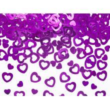 Ružové konfety na stôl - srdcia