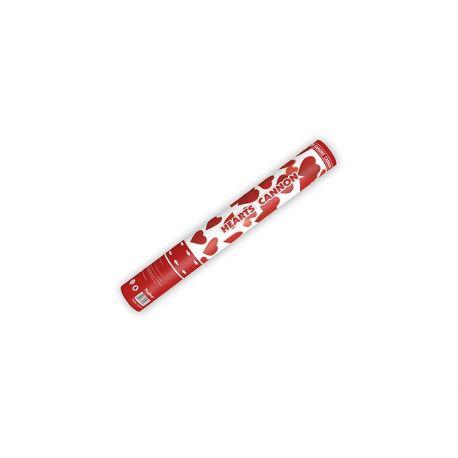 Vystreľovacie konfety - červené srdcia