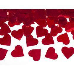 Vystreľovacie konfety - srdcia červené 40cm