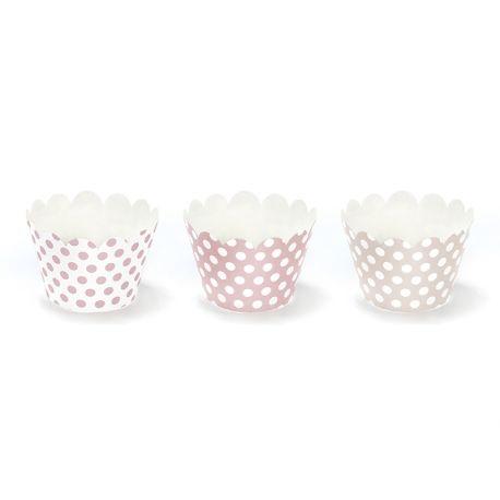 Ružové košíčky na muffiny alebo cupcake