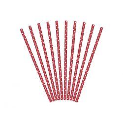 Papierové slamky - červená farba