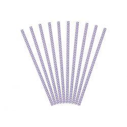 Papierové slamky fialové