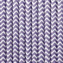 Fialové papierové slamky
