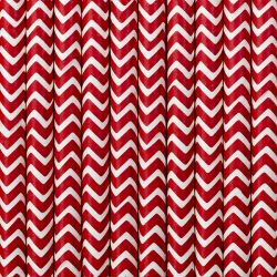 Červené papierové slamky