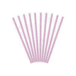 Ružové papierové slamky