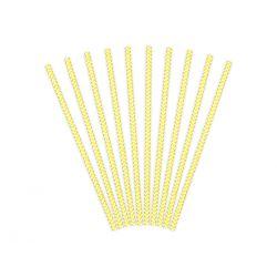 Žlté papierové slamky
