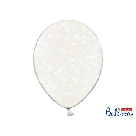 Biele kvietky - biely balón