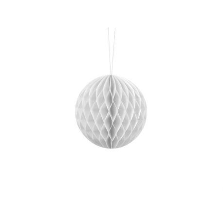 Biela papierová guľa - Honeycomb Ball - 10cm