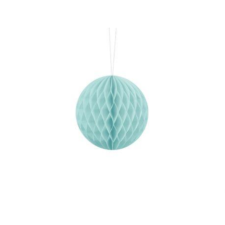 Modrá papierová guľa - Honeycomb Ball - 10cm
