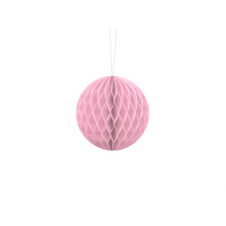 Ružová papierová guľa - Honeycomb Ball - 10cm