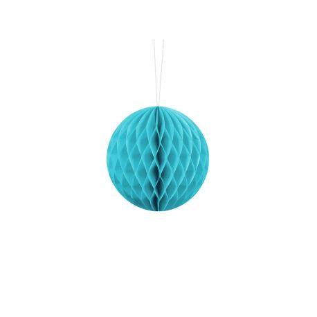 Tyrkysová papierová guľa - Honeycomb Ball - 10cm