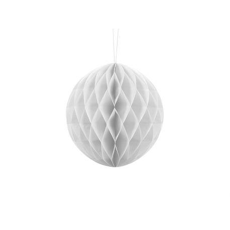 Biela papierová guľa - Honeycomb Ball - 20cm