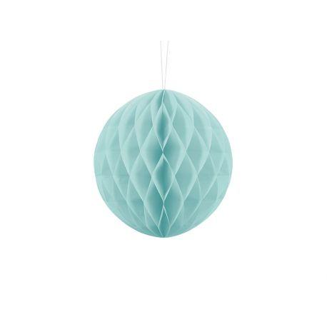 Modrá papierová guľa - Honeycomb Ball - 20cm