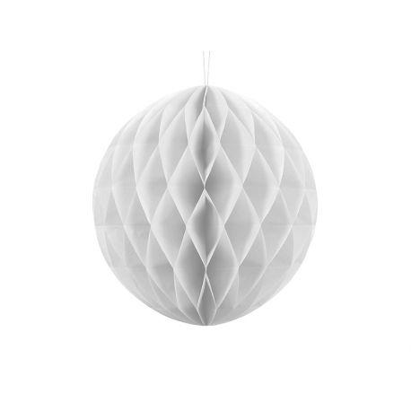 Biela papierová guľa - Honeycomb Ball - 30cm