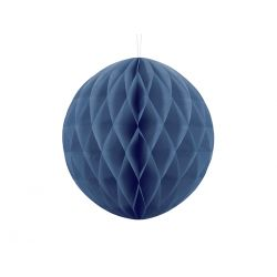 Modrá papierová guľa - Honeycomb Ball - 30cm