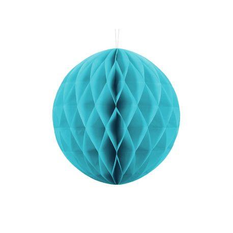 Tyrkysová papeirová guľa - Honeycomb Ball - 30cm