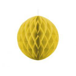 Žltá papierová guľa - Honeycomb Ball - 30cm
