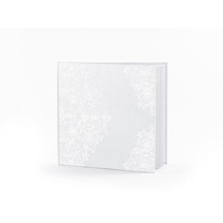 Svadobná kniha hostí s perleťovým vzorom