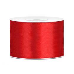 Stuha saténová 50mm/25m červená