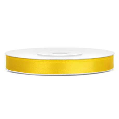 Žltá saténová stuha - 06mm/25m