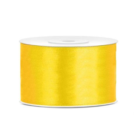 Žltá saténová stuha - 38mm/25m