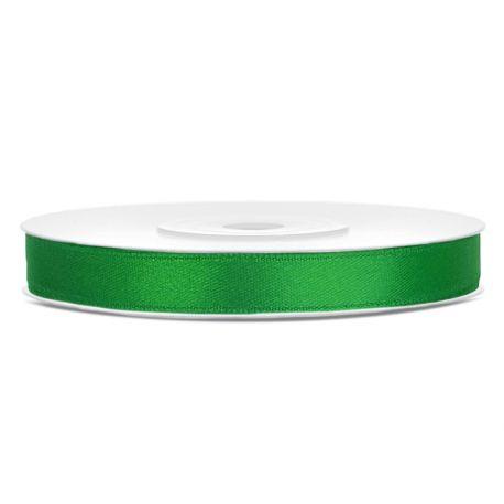 Zelená saténová stuha - 06mm/25m