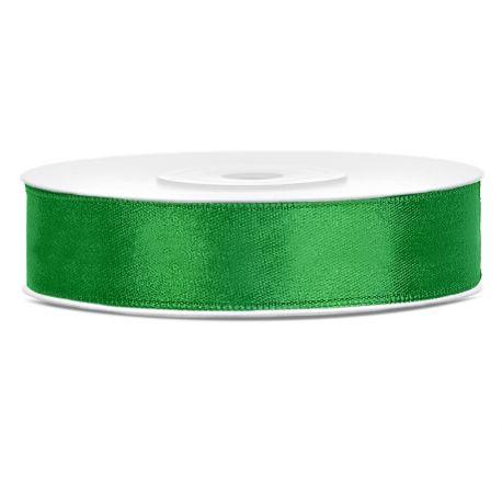 Zelená saténová stuha - 12mm/25m