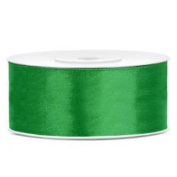 Zelená saténová stuha - 25mm/25m