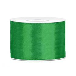 Stuha saténová zelená 50mm/25m