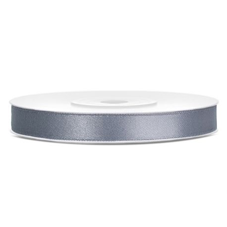 Stuha saténová sivá 6mm/25m