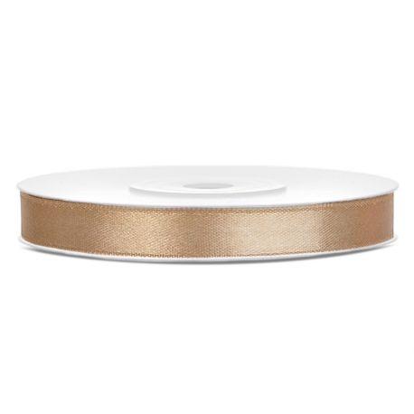 Stuha saténová zlatá 6mm/25m
