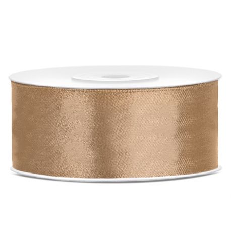 Stuha saténová zlatá 12mm/25m