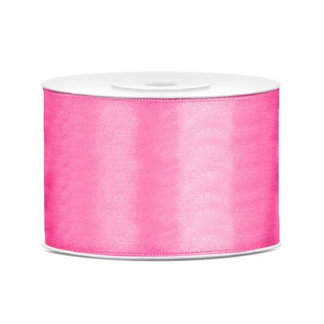 Ružová saténová stuha - 50mm/25m