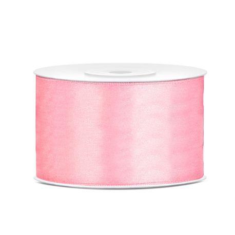 Stuha saténová ružová svetlá - 38mm/25m