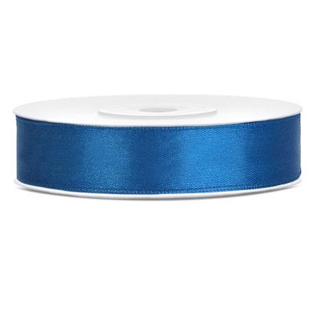 Stuha saténová modrá tmavá - 12mm/25m