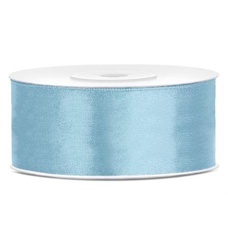 Stuha saténová modrá svetlá - 25mm/25m